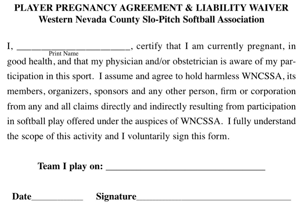 Sample Letter Of Liability Waiver from www.wncssa.com